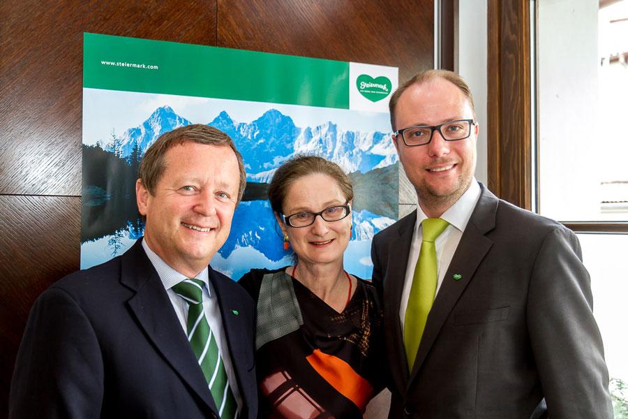 Steiermark legt in Tschechien zu Prag PK April