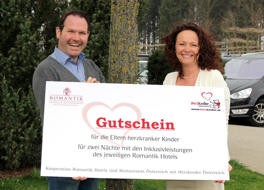 Romantik Hotels unterstützen Herzkinder Romantik Hotels und Herzkinder