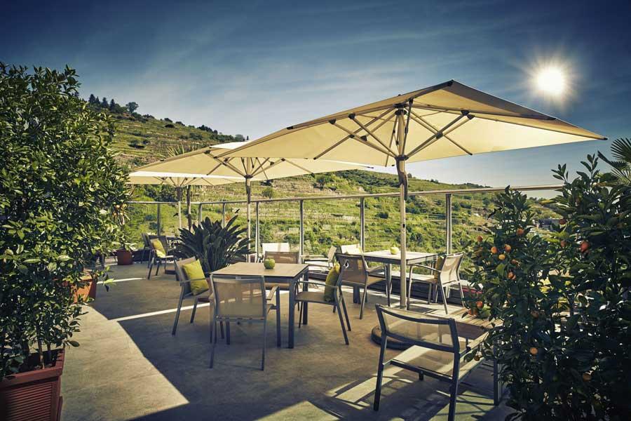 Hotel mit Aussicht über die Wachau Sky Garden Weinbergblick