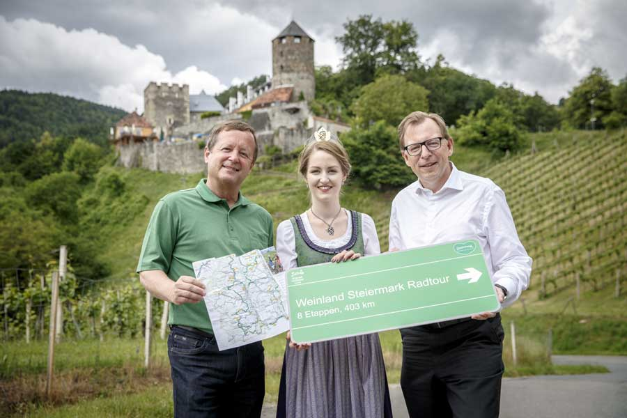 Weinland Steiermark Radtour eröffnet
