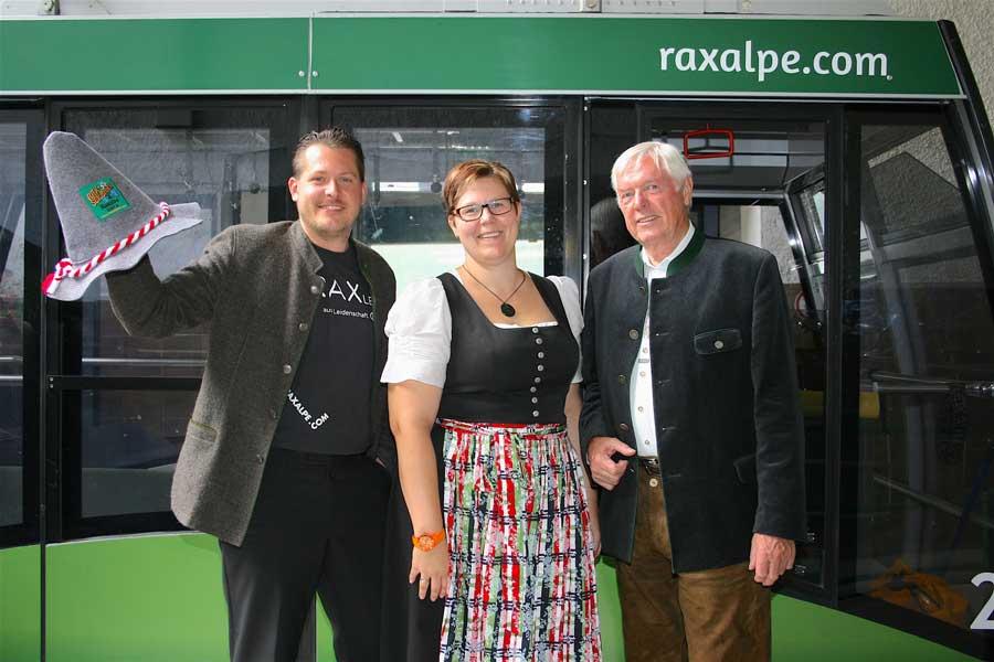 Saisonstart Rax-Seilbahn Jubiläum Familie Scharfegger