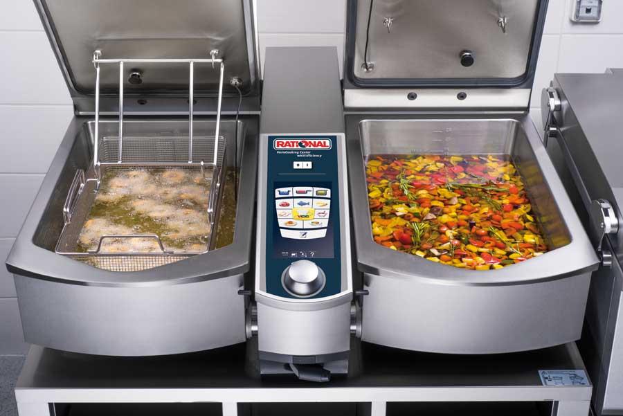 Platzsparende Küchentechnik für die Gastronomie RATIONAL Frittieren Konfieren VCC112L