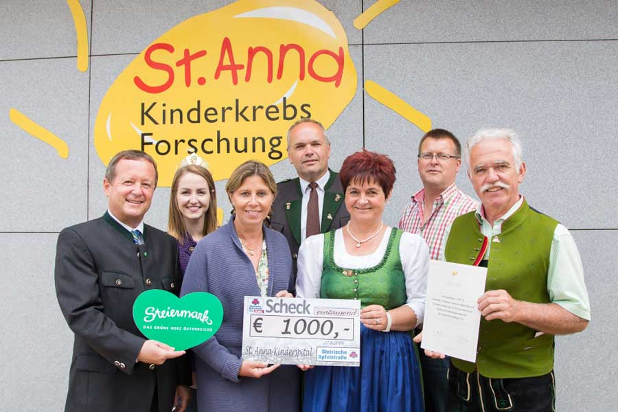 Steiermark Spende St. Anna Kinderkrebsforschung