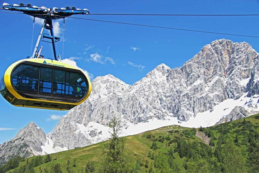 Seilbahnen im Sommertourismus Steiermark Dachstein Panorama-Gondel