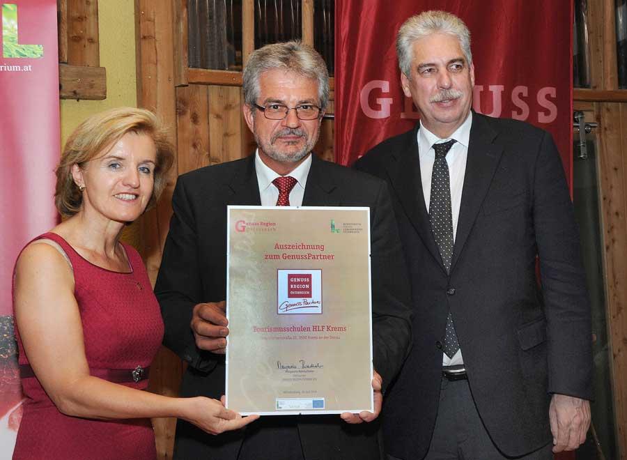 Auszeichnung für HLF Krems Genuss Partner