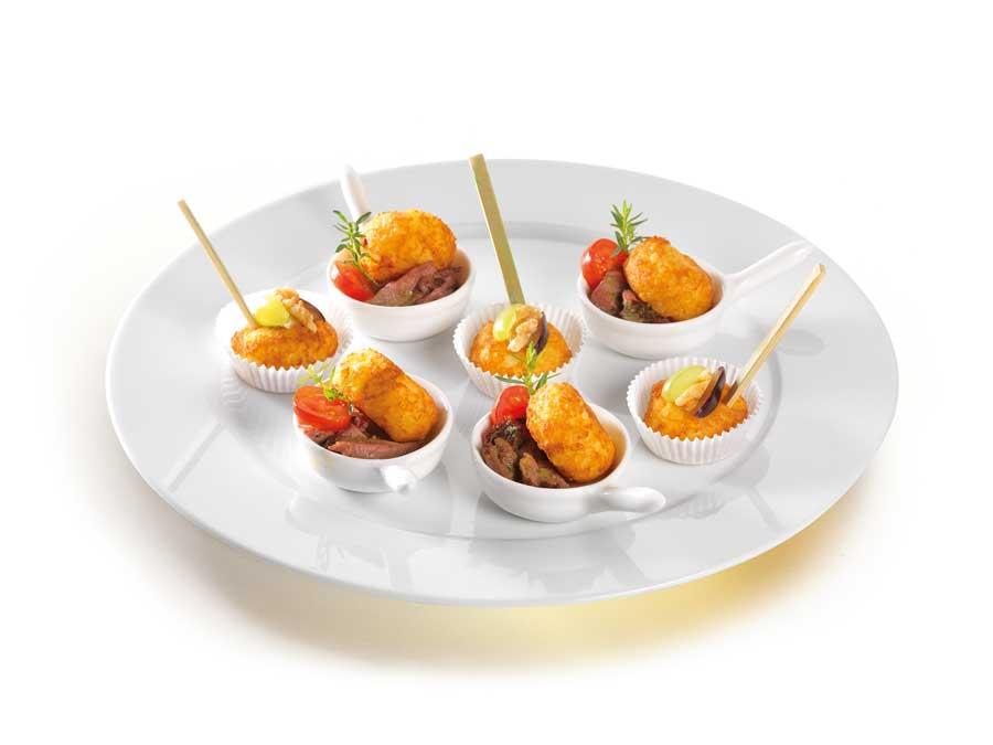 Feine Buffet Snacks Rösti-Bergkäse 11er