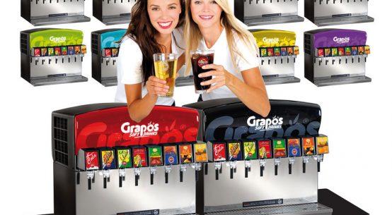 Nachhaltige AF-Getränke prickelnd Grapos