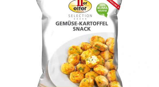 Gemüse-Kartoffel Snack mit feiner Füllung Gastronomie