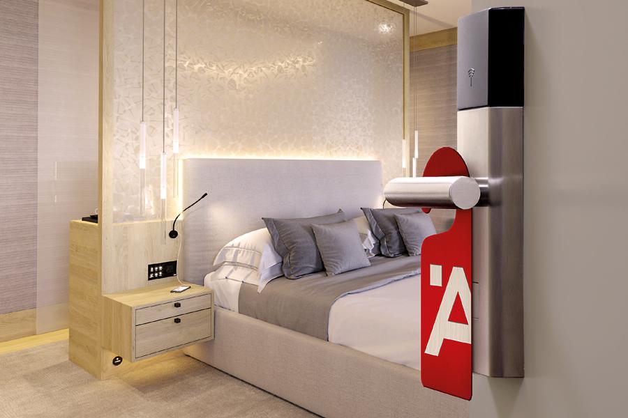 Hotelsortiment von Häfele : Häfele schafft mit seinem mehr als 200 Produkte umfassenden, international verfügbaren Hotelsortiment optimale Voraussetzungen für die zielgruppengerechte Ausstattung von Hotelzimmern.