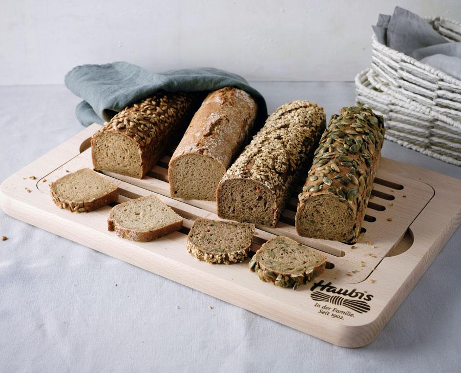 Brote für die Gastronomie: Die Haubis 4Kant-Brote passen perfekt in jedes Körberl und eignen sich ideal für den universellen Einsatz bei Tisch und in der Küche.