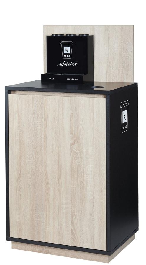 Fixer Bestandteil des TO GO Konzepts ist die Nespresso Coffee Station, an der die köstlichen Kaffees individuell zubereitet werden können
