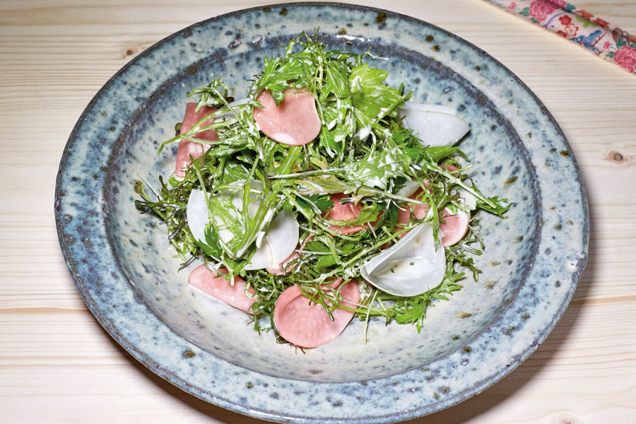 Mizuna Salat Rezept