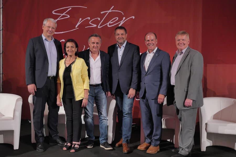 erster wiener kulinariktag: V.l. Zukunftsforscher Michael Carl, Margarete Gumprecht, CR Herbert Hacker, Wolfgang Binder , Peter Dobcak, Josef Angelmayer