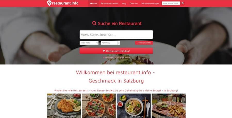 Restaurant-Suchportal für Salzburg