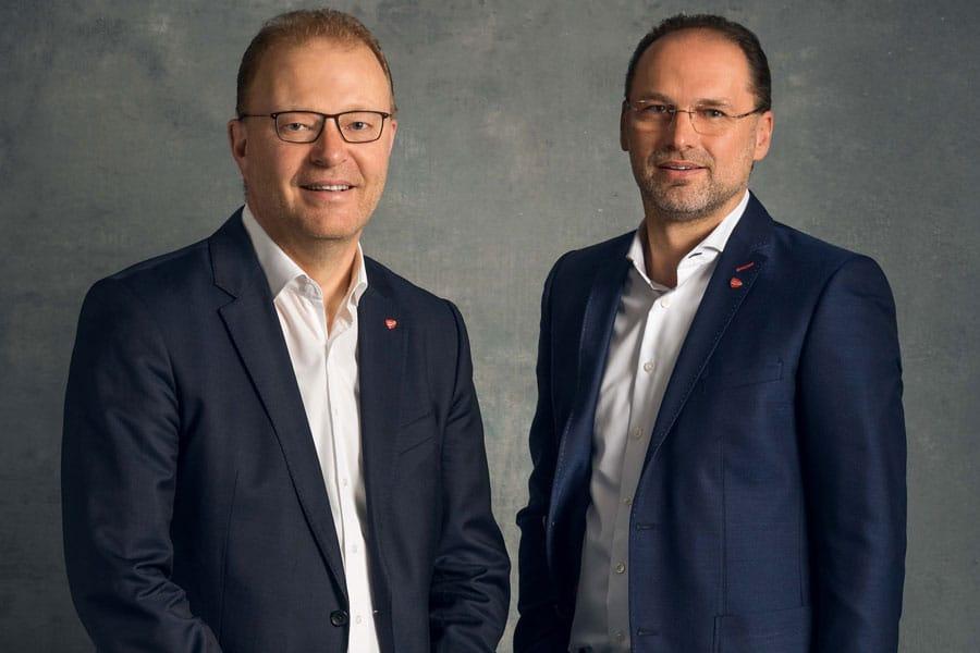 Transgourmet Kurzarbeit PUR Die Geschäftsführer von Transgourmet Österreich, Manfred Hayböck (l.) und Thomas Panholzer (r.), verzichten in der Zeit der Kurzarbeit freiwillig auf 20 Prozent ihres Gehalts.