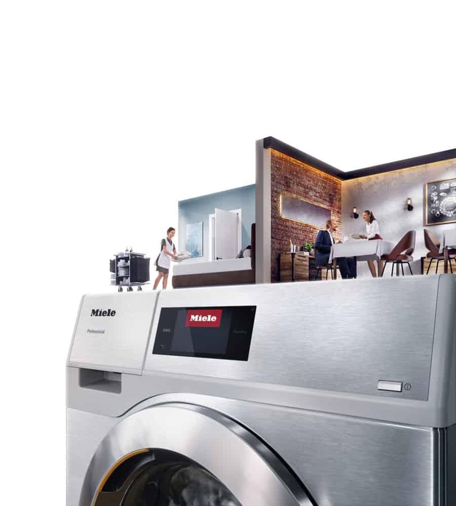 Miele bietet professionelle Wäschereitechnik für die spezifischen Anforderungen der Gastronomie und Hotellerie.
