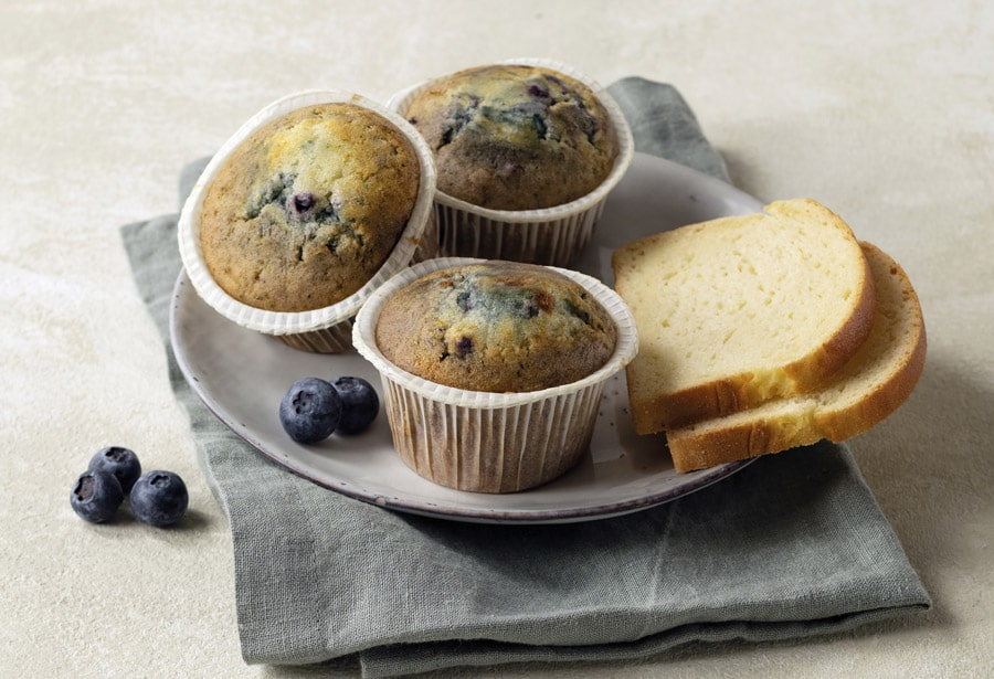 Auch Heidelbeermuffins dürfen im Glutenfrei-Sortiment von Haubis nicht fehlen