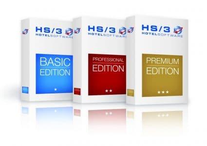 Hotelmanagement Software Mit den Editionen Basic, Professional und Premium bietet HS/3 für jede Hotelgröße die passende Lösung.