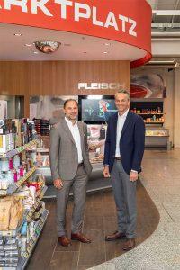 Thomas Panholzer ist der Geschäftsführer von Transgourmet Österreich, Manuel Hofer leitet TOP-TEAM Zentraleinkauf