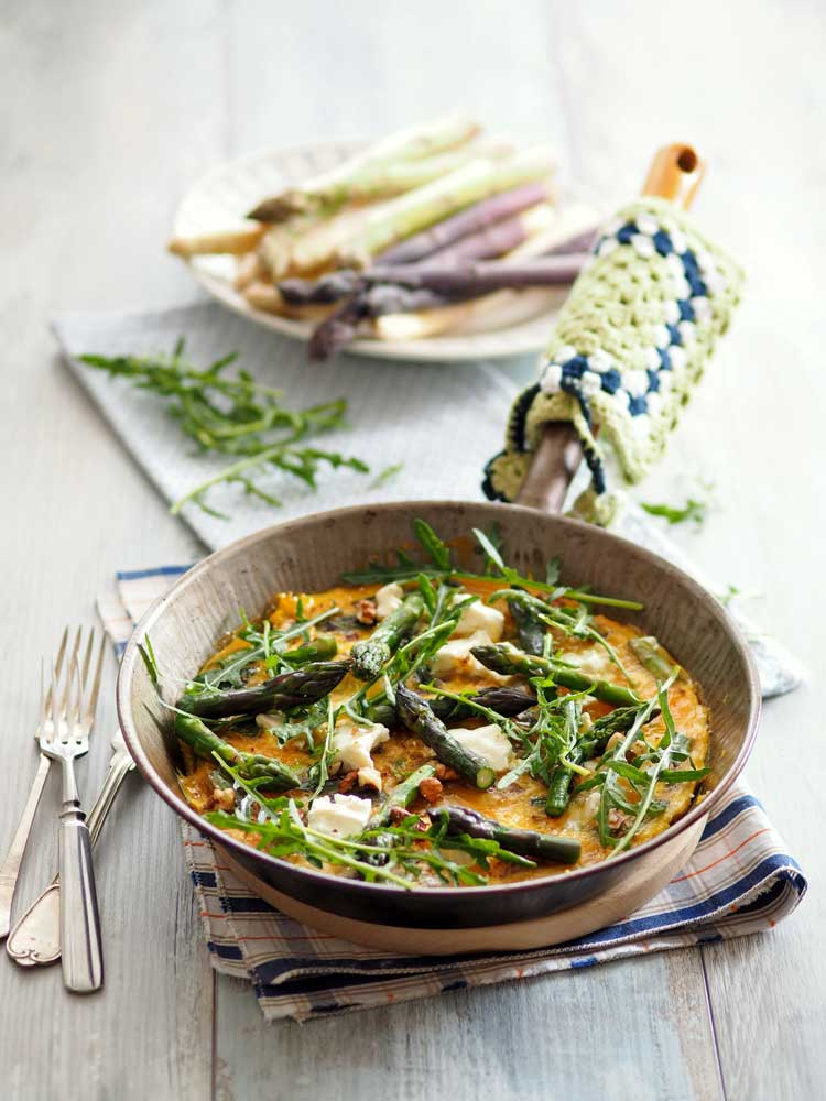 Frittata mit Spargel Rezept