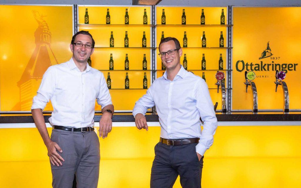 Neuer kaufmännischer Geschäftsführer bei Ottakringer Tobias Frank (l.) und Harald Mayer