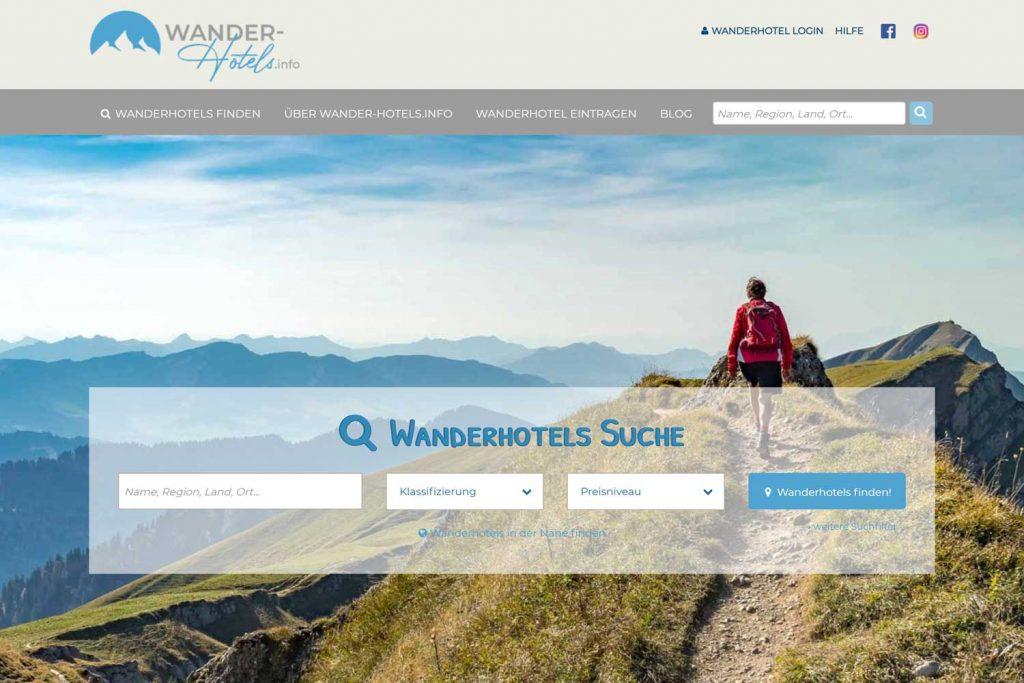 Keine Registrierungs- oder Provisionskosten Plattform für den Wanderurlaub